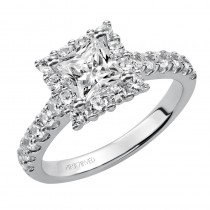 """Yolanda"" Princess Cut Diamond Engagement Ring"