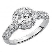 """Jaime"" Diamond Halo Engagement Ring"