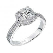 """Cecile"" Enchanted Halo Diamond Engagement Ring"
