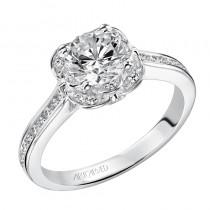 """Clarisa"" Enchanted Halo Diamond Engagement Ring"