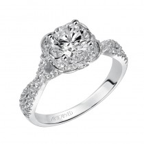 """Candice"" Enchanted Halo Engagement Ring"