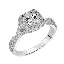 Candice' Enchanted Halo Engagement Ring - 31-V459ERW-E.00
