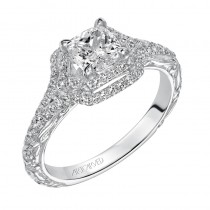 """Daphne"" Halo Diamond Engagement Ring"