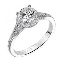 """Farrah"" Diamond Halo Engagement Ring"