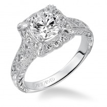 """Alura"" Halo Prong Set Diamond Engagement Ring Limited Edition"