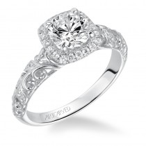 """Piper"" Halo Prong Set Engagement Ring"