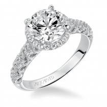 """Shelly"" Prong Set Halo Engagement Ring"