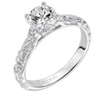 Aurelie' Vintage Inspired Solitaire Diamond Engagement Ring  - 31-V558ERW-E.00