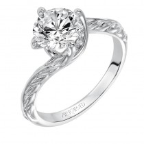 Lina' Vintage Inspired Solitaire Diamond Engagement Ring  - 31-V559GRW-E.00