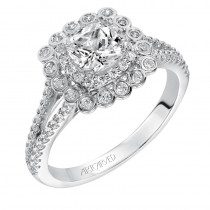 Ciana' Contemporary Prong and Bezel Set Double Halo Engagement Ring - 31-V564EUW-E.00