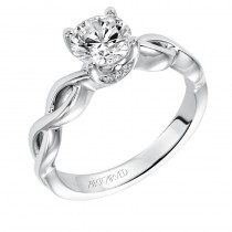 Alicia' Contemporary Classic Solitaire Diamond Engagement Ring  - 31-V571ERW-E.00