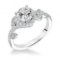 """""""Thalia"""" Prong Set Diamond Halo Engagement Ring"""