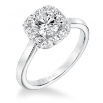 """Ariana"" Classic Diamond Halo Engagement Ring"