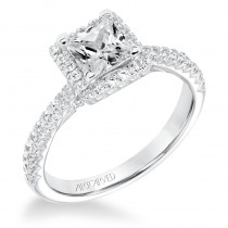 Leighton' Classic Diamond Halo Engagement Ring  - 31-V668ECW