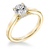 """Ina"" Classic Diamond Solitaire With Surprise Diamonds Engagement Ring"