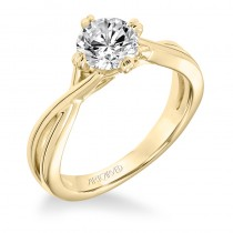 Kennedy' Contemporary Diamond Solitaire Split Shank Engagement Ring - 31-V677ERY-E.00