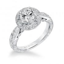 """Eleanor"" Vintage Diamond Halo Engagement Ring"