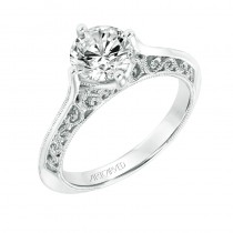 Jessamine' Vintage Solitaire Diamond Engagement Ring  - 31-V720GRW-E.00