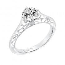 Laurette' Vintage Solitaire Diamond Engagement Ring - 31-V726ERW-E.00