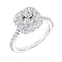 """Frances"" Classic Diamond Halo Engagement Ring"
