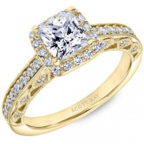 Yellow Gold Scott Kay Diamond Engagement Ring