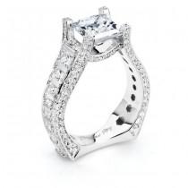 18 KARAT WHITE GOLD WEDDING RING with diamonds - 3290WR - Michael M