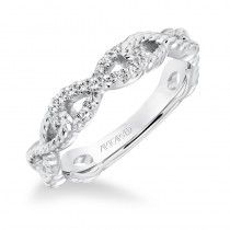 ArtCarved Diamond Rope Infinity Anniversary Band in 14K White Gold