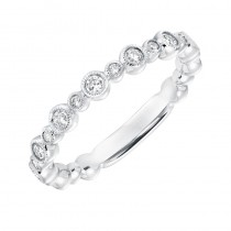 ArtCarved Diamond Stackable Band in 14K White Gold
