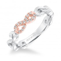 ArtCarved Diamond Infinity Anniversary Band in 14K White Gold  - 33-V9160WR