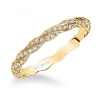 Artcarved 14k Yellow Gold Twisted Diamond Band