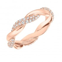 Artcarved 14k Rose Gold Twisted Diamond Band