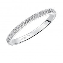 Artcarved 14k White Gold Diamond Wedding Band