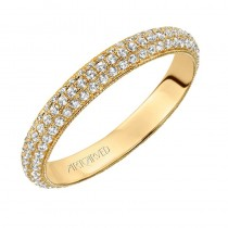 Artcarved 14k Yellow Gold Diamond Eternity Band