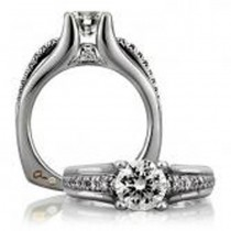 18 KARAT WHITE GOLD WEDDING RING with 22 Diamond(s) 0.21ctw