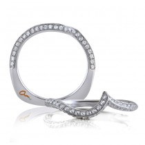 18 KARAT WHITE GOLD MATCHING BAND with 74 Diamond(s) 0.38ctw