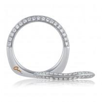 18 KARAT WHITE GOLD WEDDING BAND with diamonds - 4025WR-B