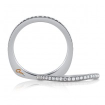 18 KARAT WHITE GOLD DIAMOND WEDDING BAND with 26 Diamond(s) 0.19ctw