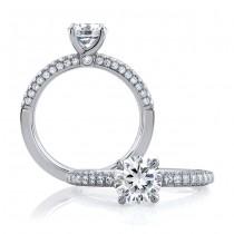 18 KARAT WHITE GOLD WEDDING RING with 56 Diamond(s) 0.48ctw