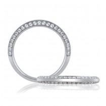 18 KARAT WHITE GOLD WEDDING RING with diamonds - 4033WR-B