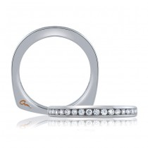 18 KARAT WHITE GOLD WEDDING BAND with diamonds - 4034WR-B