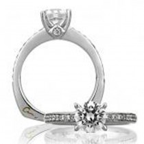 18 KARAT WHITE GOLD WEDDING RING with 20 Diamond(s) 0.32ctw