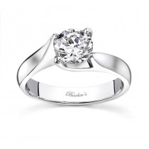 14 KARAT WHITE GOLD SOLITAIRE WEDDING RING