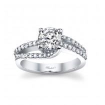 14 KARAT WHITE GOLD WEDDING RING with 40 Diamond(s) 0.36ctw