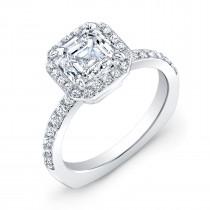 18K White Gold Halo Style Engagement Ring