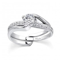 White gold diamond engagement ring set - 7345SW