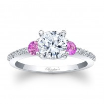 Engagement Ring With Pink Sapphires