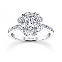Flower Engagement Ring - 7661LW