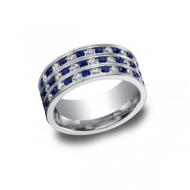 Diamonds White Gold 8mm Band