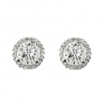 18 KARAT WHITE GOLD EARRINGS with 44 Diamond(s) 0.50ctw