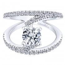 14k White Gold Nova Engagement Ring